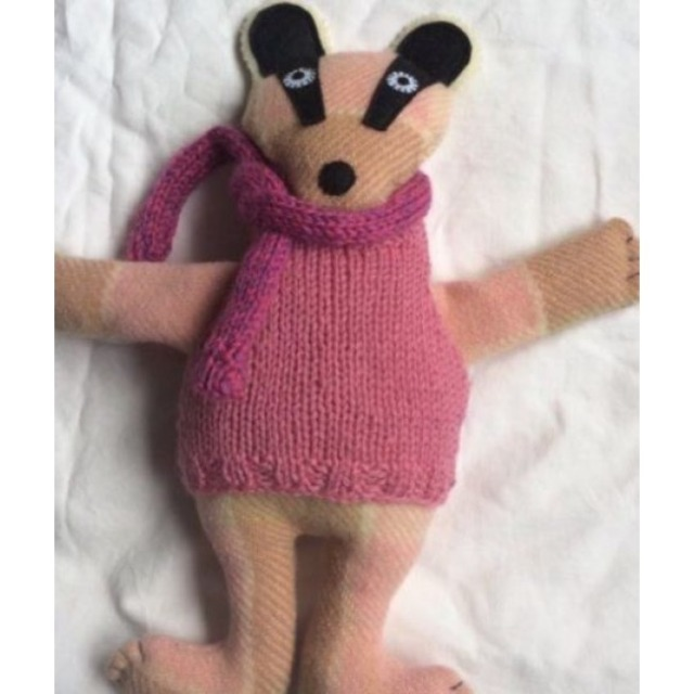 Baby & toys Toys & games Soft toys : Sprout Softies Pink Badger, Soft toy, Badger
