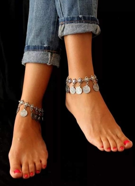 Fashion Women Accessories : Cool Anklet, Trend Anklet, Cute Anklet, Beaded Anklet, Anklets For Women, Silver Anklet