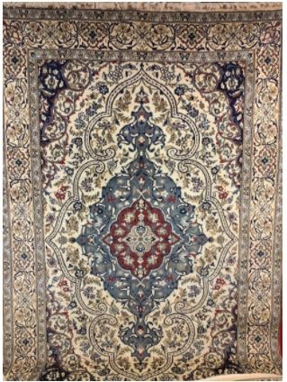 Home & Garden Home & Living Lounge & Dinning Room : Nain Rug, Handmade Persian Rug, Persian Carpet, Hand Knotted Oriental Rug