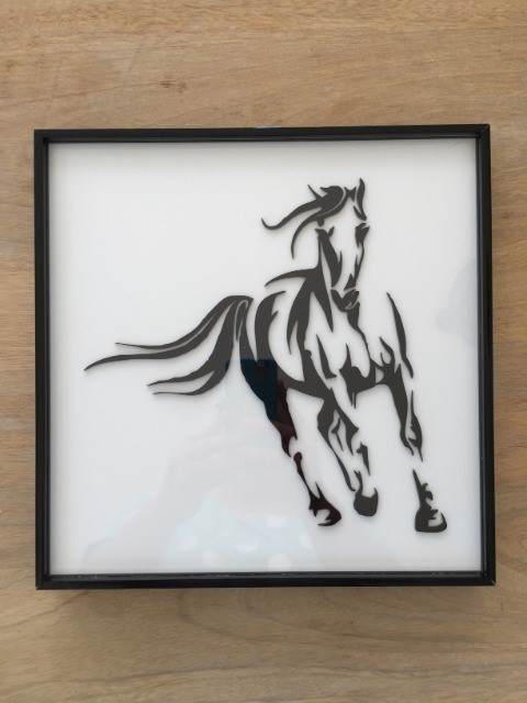 Home & Garden Home & Living Home Decor : Laser-Cut Acrylic - Horse Picture Frame
