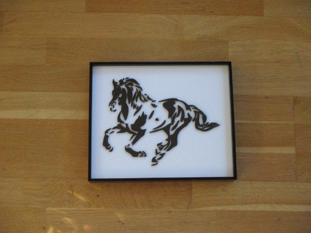 Home & Garden Home & Living Home Decor : Laser-cut acrylic Horse Picture Frame