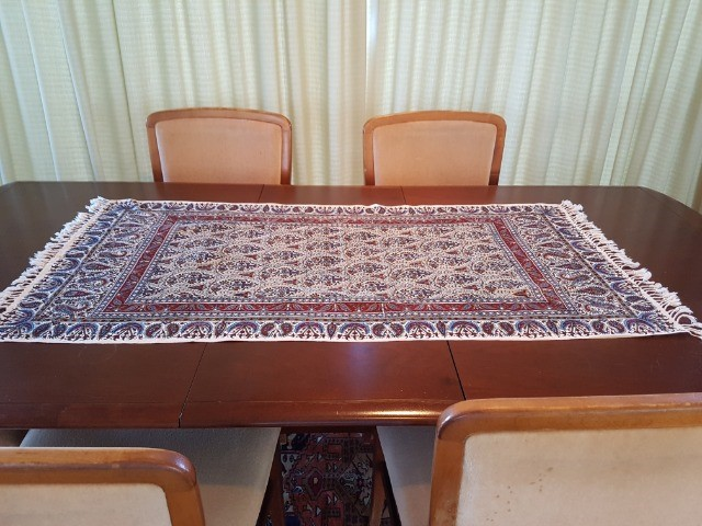 Home & Garden Home & Living Lounge & Dinning Room : Handmade Tablecloth(60x120), Persian Cotton Tablecloth, Washable Runner, Ghalamkar