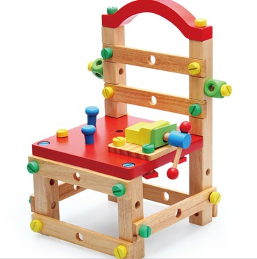 Baby & toys Toys & games Educational toys : MONTESSORI WOODEN ASSEMBLING DIY REPAIR CHAIR TOY, WOODEN TOY, EDUCATIONAL TOY