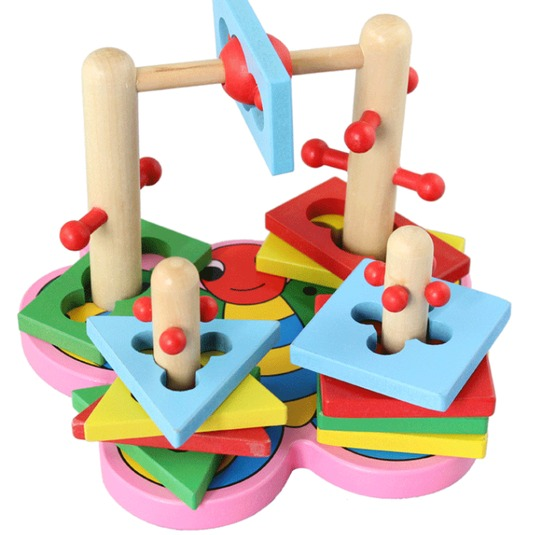 Baby & toys Toys & games Educational toys : WOODEN EDUCATIONAL COLUMN TOY, WOODEN TOY, EDUCATIONAL TOY
