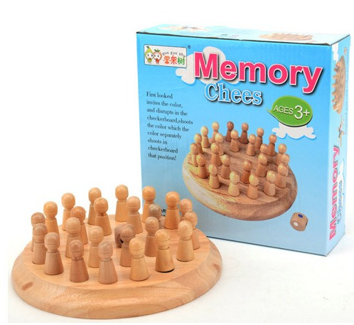 Baby & toys Toys & games Educational toys : WOODEN MEMORY CHESS, WOODEN TOY, CHESS, EDUCATIONAL TOY