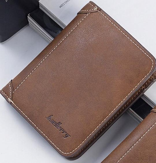 Fashion Men Accessories : BAELLERY LEATHER COFFEE, LEATHER WALLET
