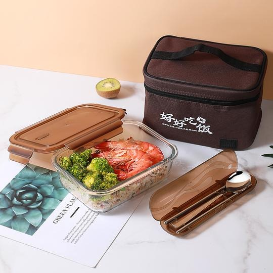 Home & garden Home & living Kitchen : BENTO LUNCH BOX SET WITH LUNCH BAG