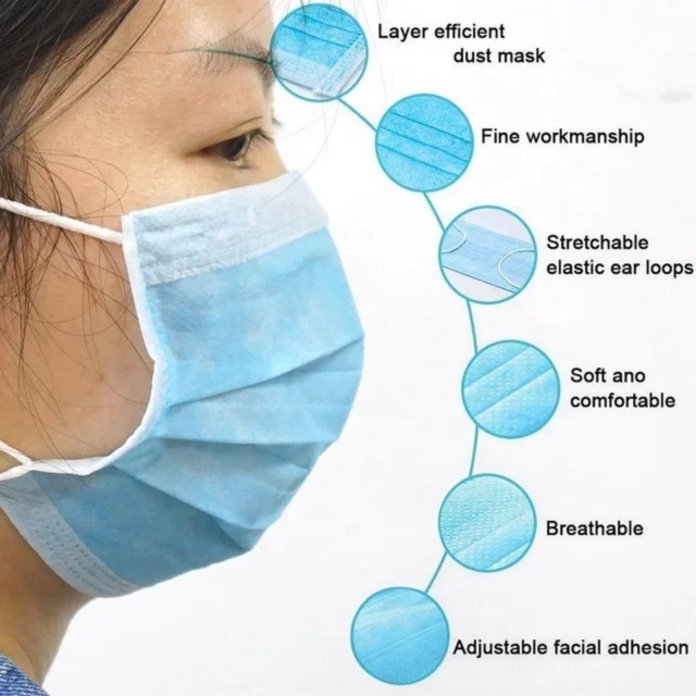 Health & Beauty Health Care Medical Supplies : Disposable Facemask, pack of 20