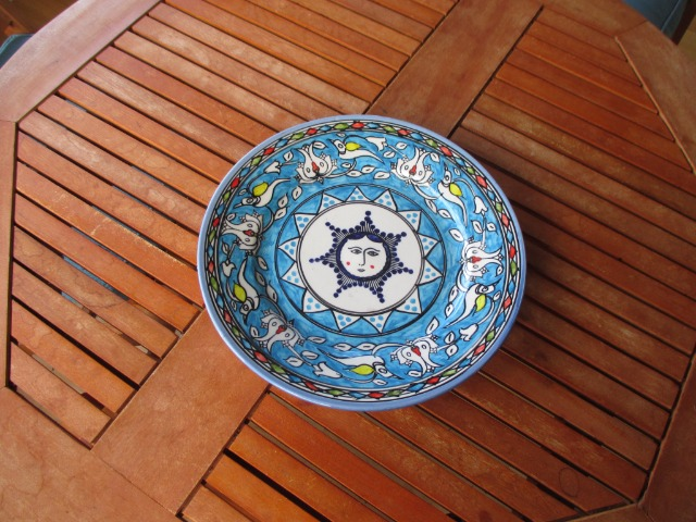 Home & Garden Home & Living Home Decor : Handmade and hand painted plate, Persian pottery. Colourful ceramic, home decor
