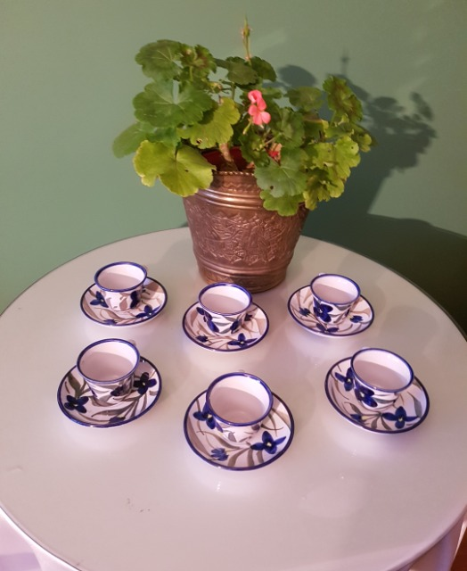 Home & Garden Home & Living Kitchen : 6 x Turkish Coffee Cups with Saucer, Pottery small cups with saucer