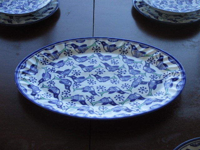 Home & Garden Home & Living Kitchen : Ceramic Serving Tray, Persian Pottery, Large Serving plate/tray
