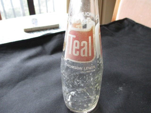 Art & crafts Collectables Pottery & glass : Old Teal Bottle, 185 ml