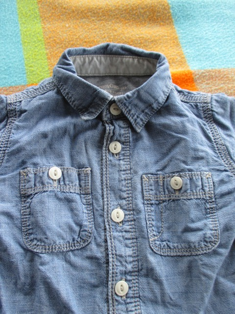 Baby & Toys Baby Clothing : BabyGap Boy's Shirt, 12-18 months old, Second hand Baby boy Blue Shirt, GAP