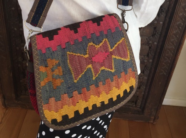Fashion Women Bags & Wallets : Colorful, handmade, kilim bag