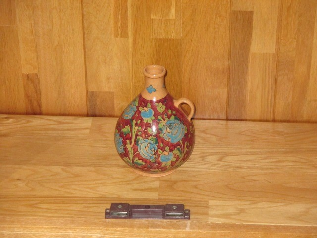 Home & Garden Home & Living Home Decor : Floral vase,  Persian pottery, hand-made, hand-painted bottle