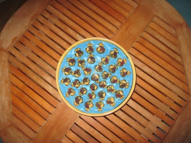 Home & Garden Home & Living Kitchen : Fish pattern deep plate, beautiful Persian pottery, hand-made and hand-painted