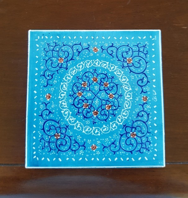 Art & Crafts Art Pottery & Glass : Beautiful Persian tile, Hand painted decorative tile