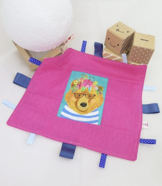 Baby & toys Baby Accessories : Taggie Blanket – Floral Bear Fabric, Handmade Blanket, Baby Blanket
