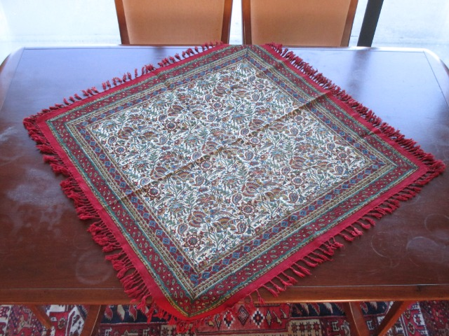 Home & Garden Home & Living Lounge & Dinning Room : Brand new table cloth, square table cloth 80x80, hand painted Persian Tablecloth