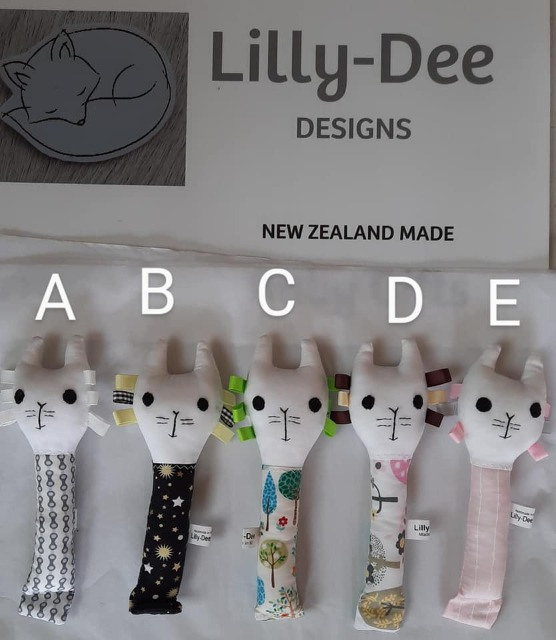 Baby & toys Baby Toys : LILLYDEE RATTLES, Rattles, Baby Rattles, Handmade Rattles, Rabbit Rattle, Cat Rattle