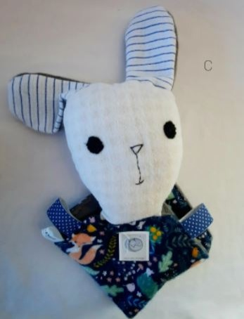 Baby & toys Toys & games Soft toys : MINKY RABBIT COMFORTER, SOFT TOY, BABY COMFORTER